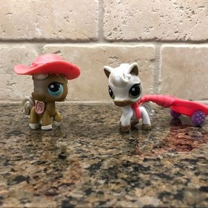 Littlest Pet Shop Lps Race About Ranch Horses